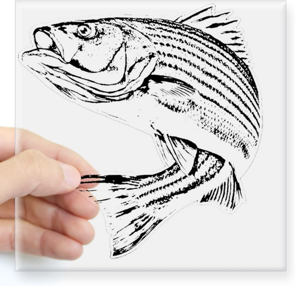 "Striped Bass Striper Rockfish fishing truck boat window vinyl decal Sticker 18/"""