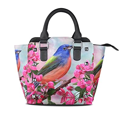 7df15d948690 Image Unavailable. Image not available for. Color  Women s Top Handle  Satchel Handbag Bird Flowers Branch ...