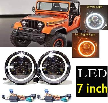 [DIAGRAM_38YU]  Amazon.com: Led Headlight For Jeep CJ CJ5 CJ7 1959-1986 Upgrade LED  Headlight Hi/Low Beam Head Lamp 7
