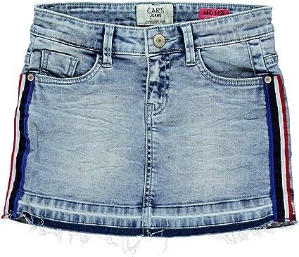 Cars Jeans - Falda - para niña Blue Bleached, Used Waschung 152 cm ...
