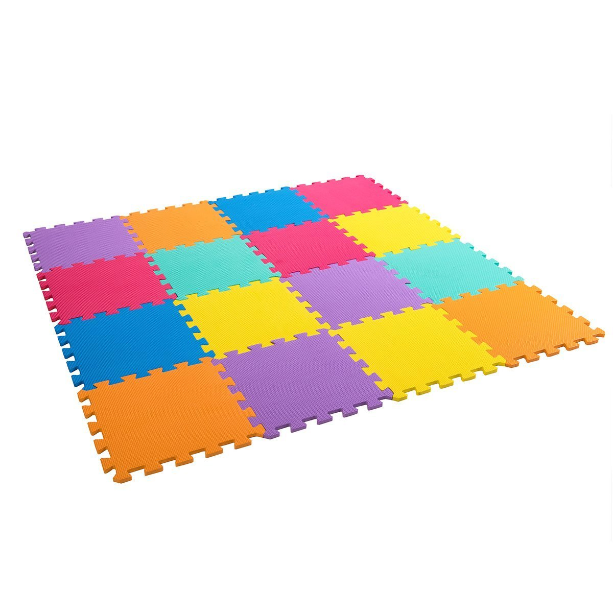 Zoeshare Puzzle Play Mat for Kids Foam Mat,16 Piece, Multi-Color, Each Tile 12''x 12''x 0.4''