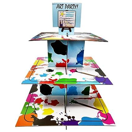 Amazon com | Art Party Cupcake Stand & Pick Kit, Art Party