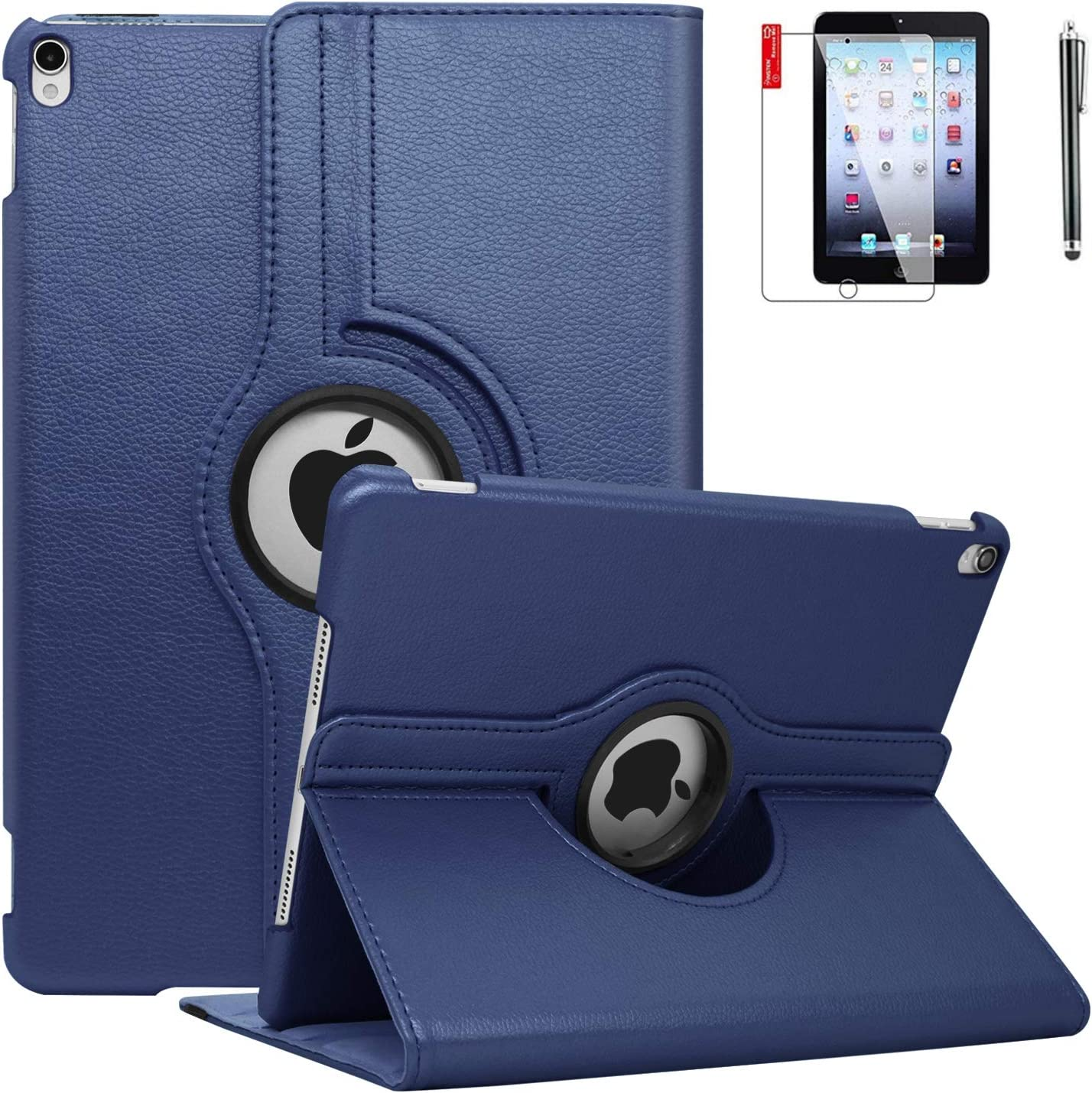 NEWQIANG iPad Air 1st Case Cover - 360 Degree Rotating Stand, Auto Sleep Wake - Fit for Model A1474 A1475 A1476 MD785LL/A MD876LL/A (A6 - Blue)