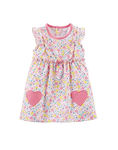 764cdab2d Amazon.com: Child of Mine NY Carter's Baby Girl Dress & Diaper Cover ...