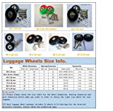 2 Set of Luggage Suitcase Replacement Wheels with