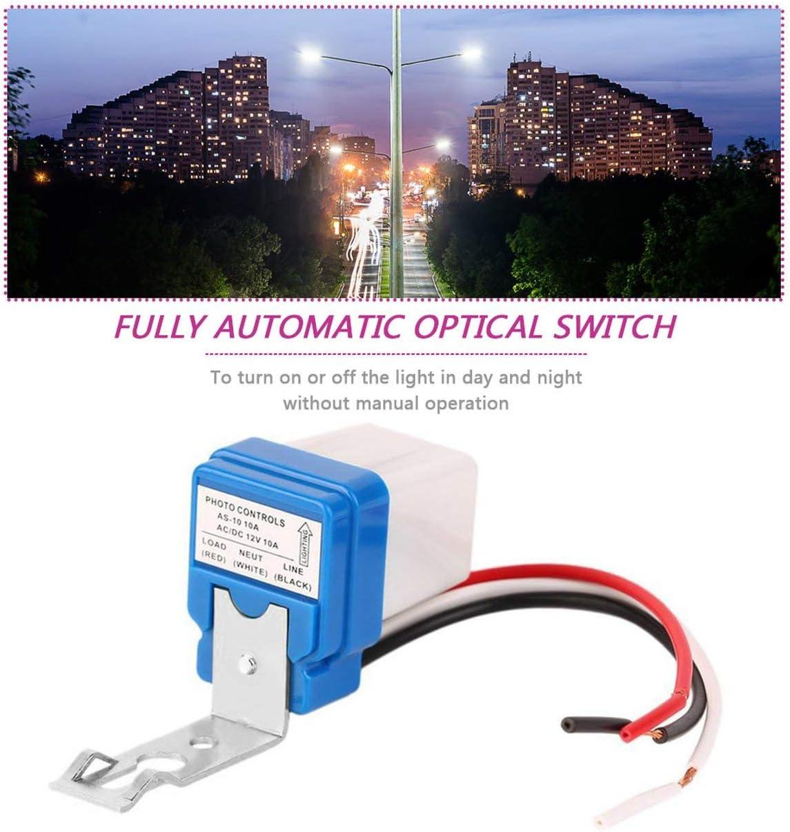Automatico Night On Day Off Interruttore stradale Foto Controlli Sensore 12V 10A
