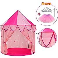 YOOBE 5pc Tienda de Princesa para Niñas Tienda de Campaña Princess Castle - Bonus Princess Juego