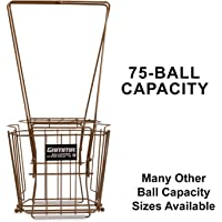 Gamma Sports Tennis Ballhoppers - Durable, Convenient, Heavy Duty Construction, for Tennis Ball Pickup, Carrying and Storage, (Various Designs/Capacities to Hold 50, 55, 75, 80, 90, 110, 140 Balls), unisex-adult, Hi-Rise Gold 75 1/Bx, BHRG100, Hi-Rise Gold 75, Holds 75