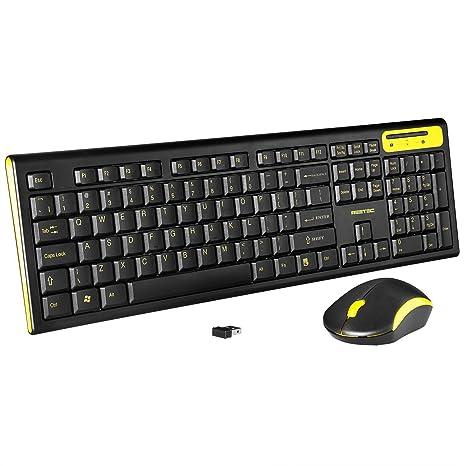 reetec compacto de tamaño completo teclado inalámbrico de 2,4 GHz y ratón Combo Set