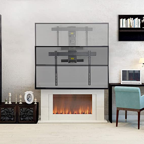 VIVO Soporte de pared de acero eléctrico sobre chimenea, altura ...