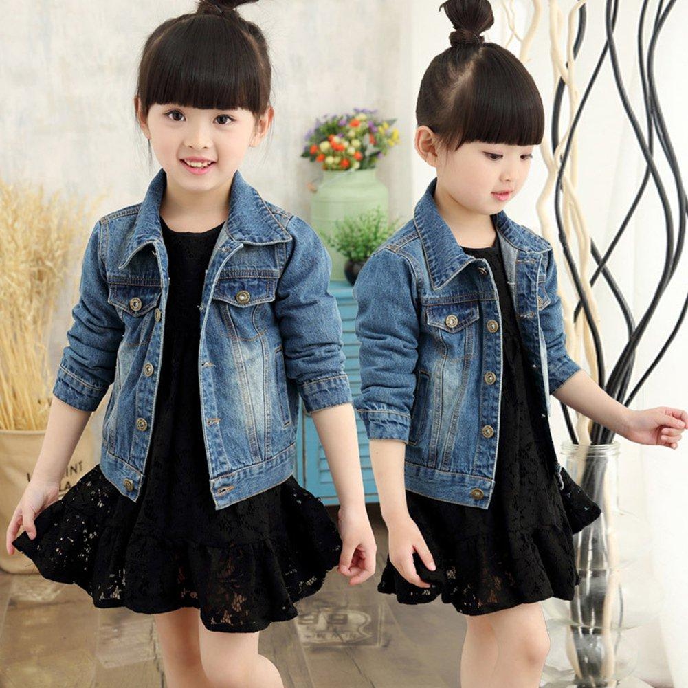 M/&A Childrens Unisex Denim Jackets Boys Girls Jean Jacket