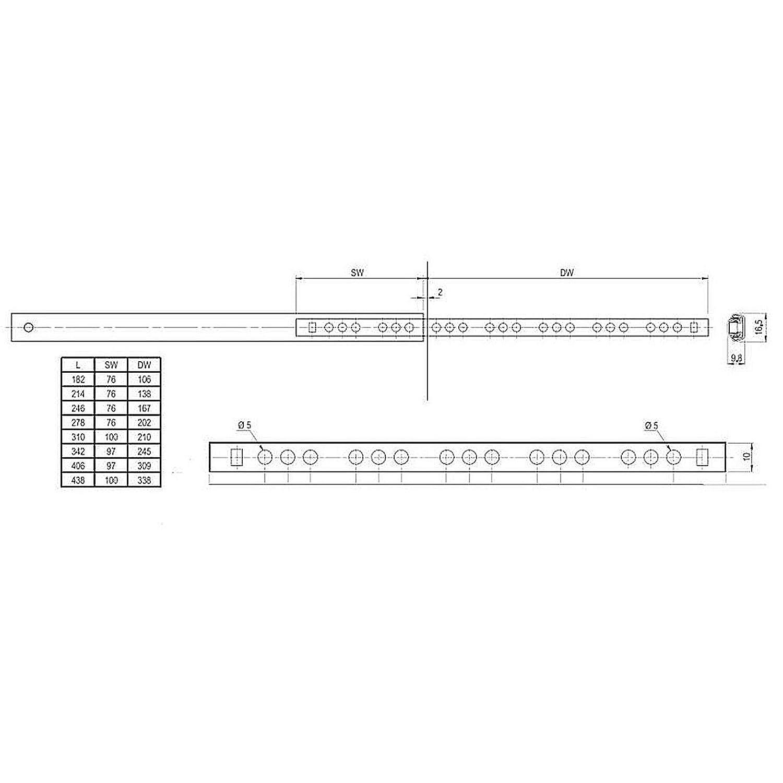 SO-TECH/® Schubladenschienen Teilauszug Rollenauszug Kugelf/ührung