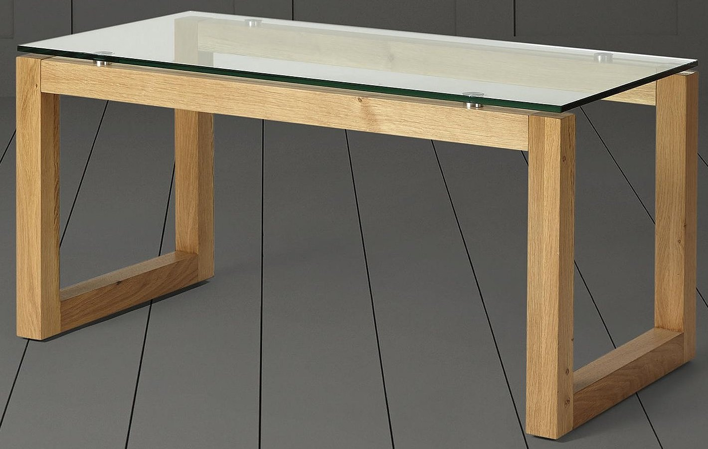 Tesco Stanbury Glass Top Coffee Table Solid Oak A