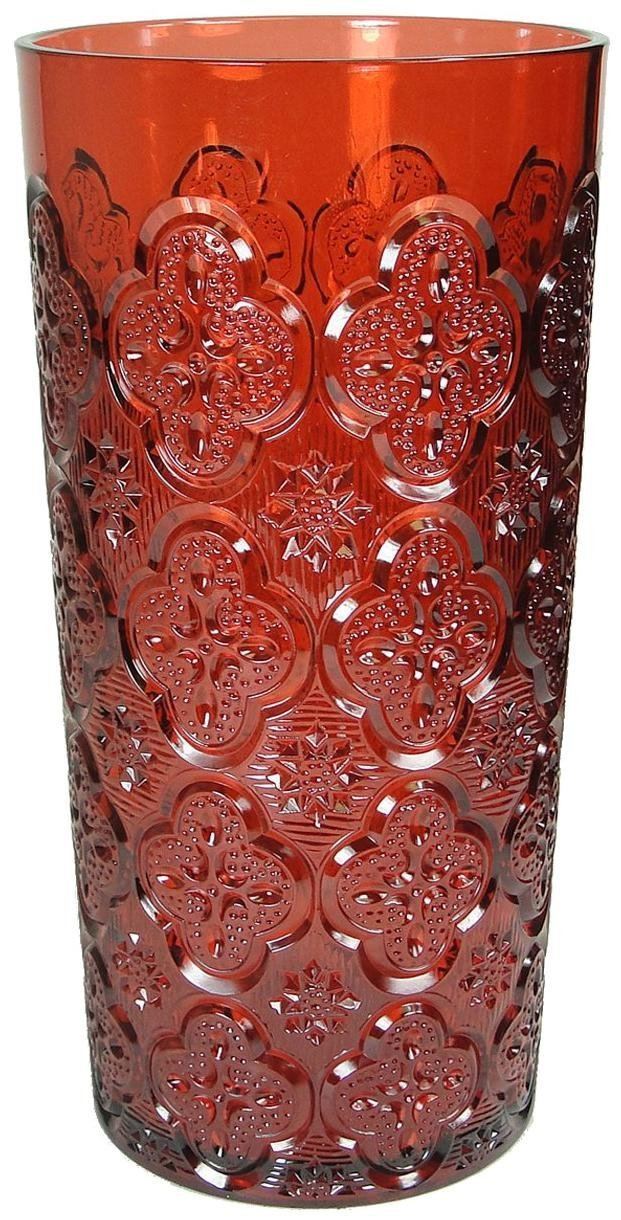 Le Cadeaux Morroccan Red Iced Tea Glass Berry Red