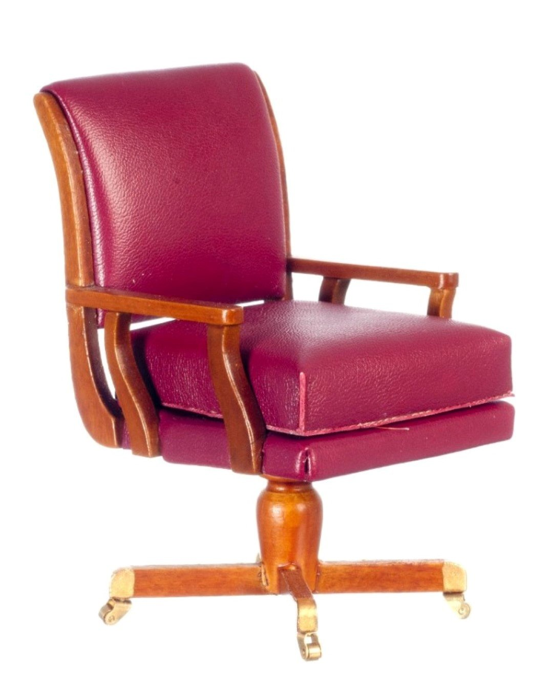 Melody Jane Dollhouse Jimmy Carter Red Oval Office Desk Chair Miniature Study Furniture by Melody Jane Doll Houses