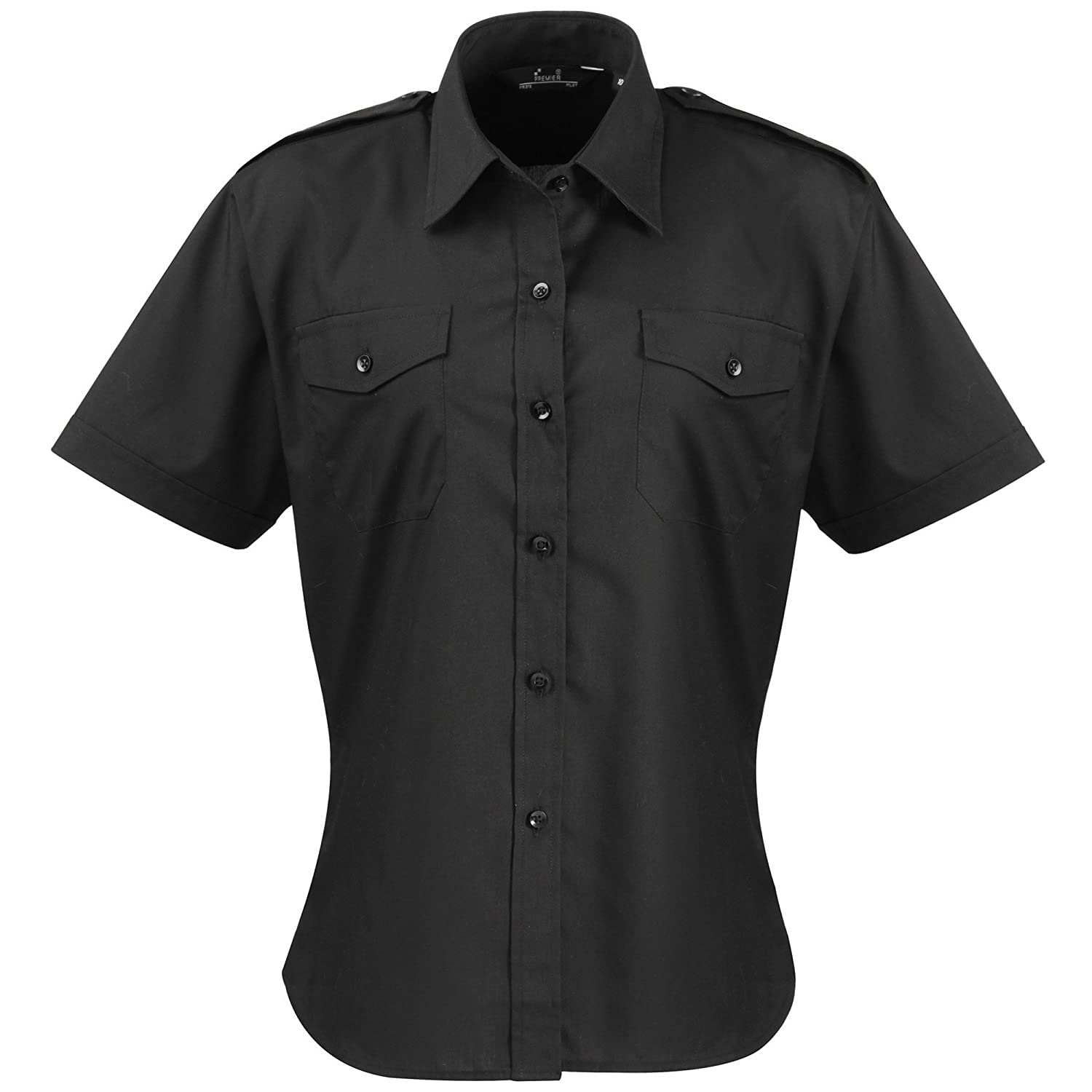 Premier Workwear Damen Hemd Ladies Short Sleeve Pilot Shirt