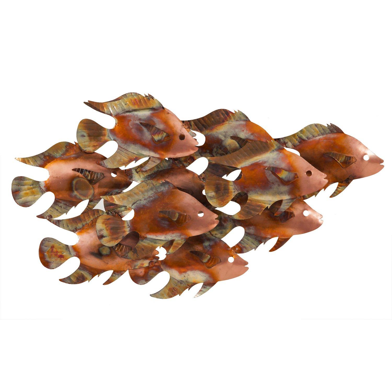ケープ職人による学校の魚outdoor-safeメタル壁アート   B07B43V446