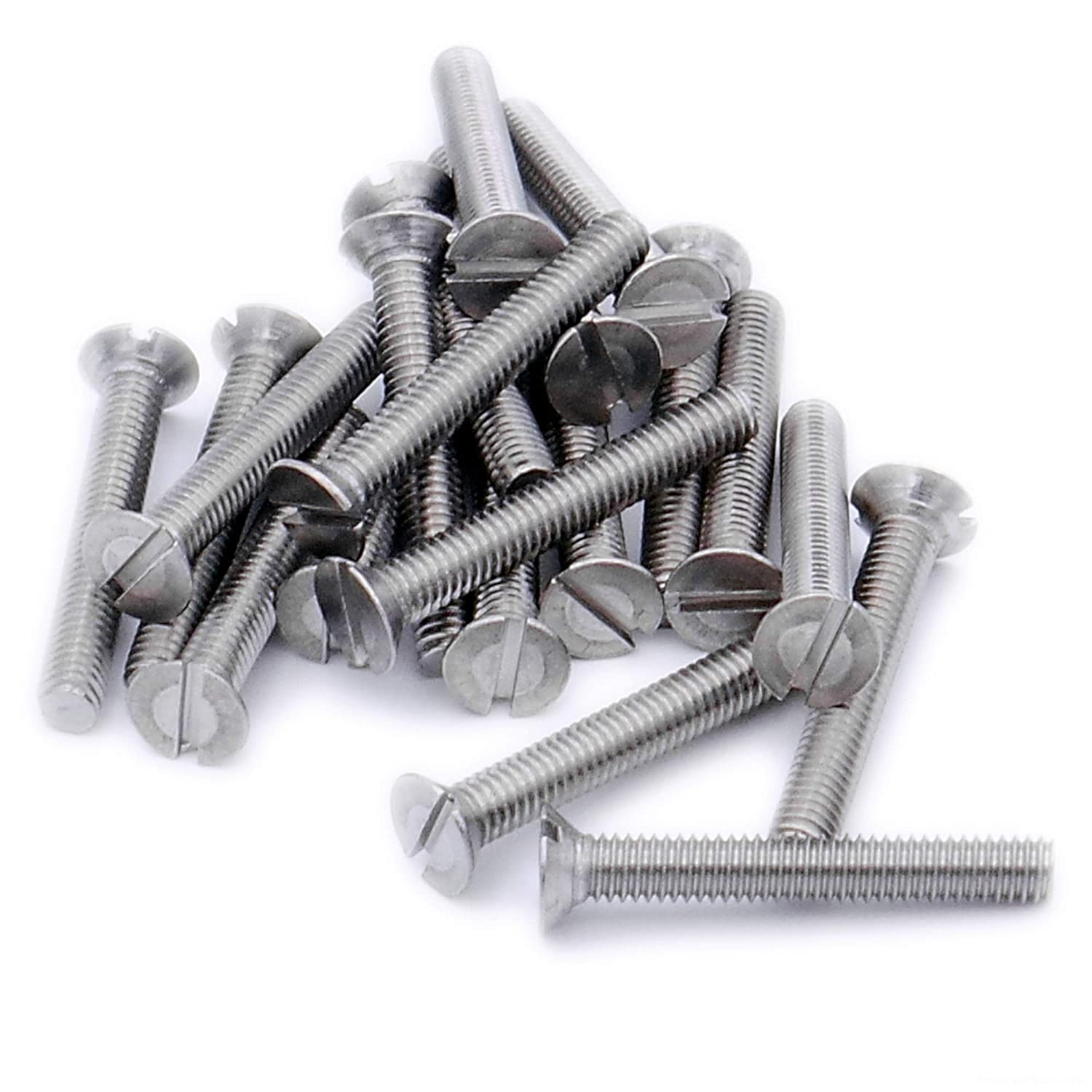 M3 x 6mm Stainless Slotted Csk Screws  10 pack