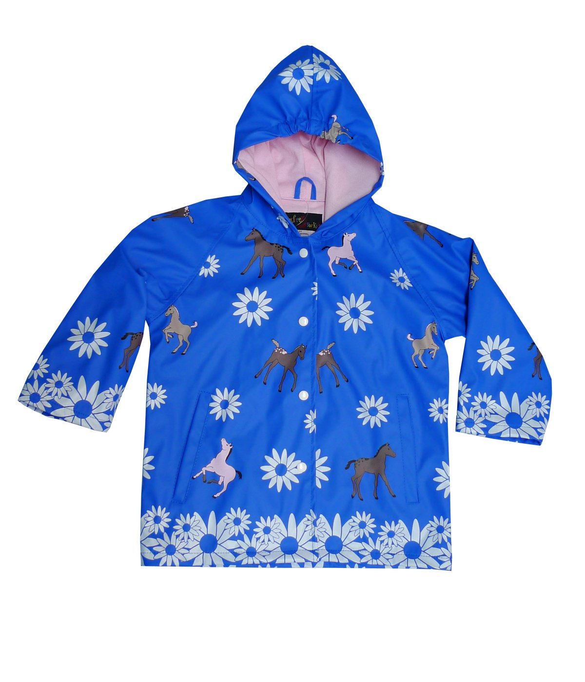 Foxfire For Kids Girls Childrens Toddler Raincoat (Blue Pones, 6) by Foxfire For Kids