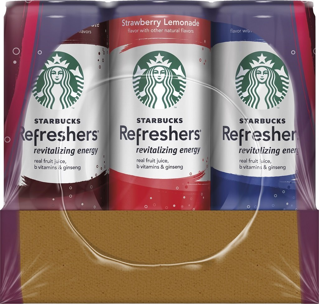 Starbucks Refreshers, 3 Flavor Variety Pack, 12 Ounce Slim Cans, 12 Pack by Starbucks (Image #4)