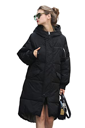 5aceadb219 Winter Jacket Coat Women Puffer Anorak Long Coat Quilted Snow Warm Parka  Down Hooded Top Sleeve