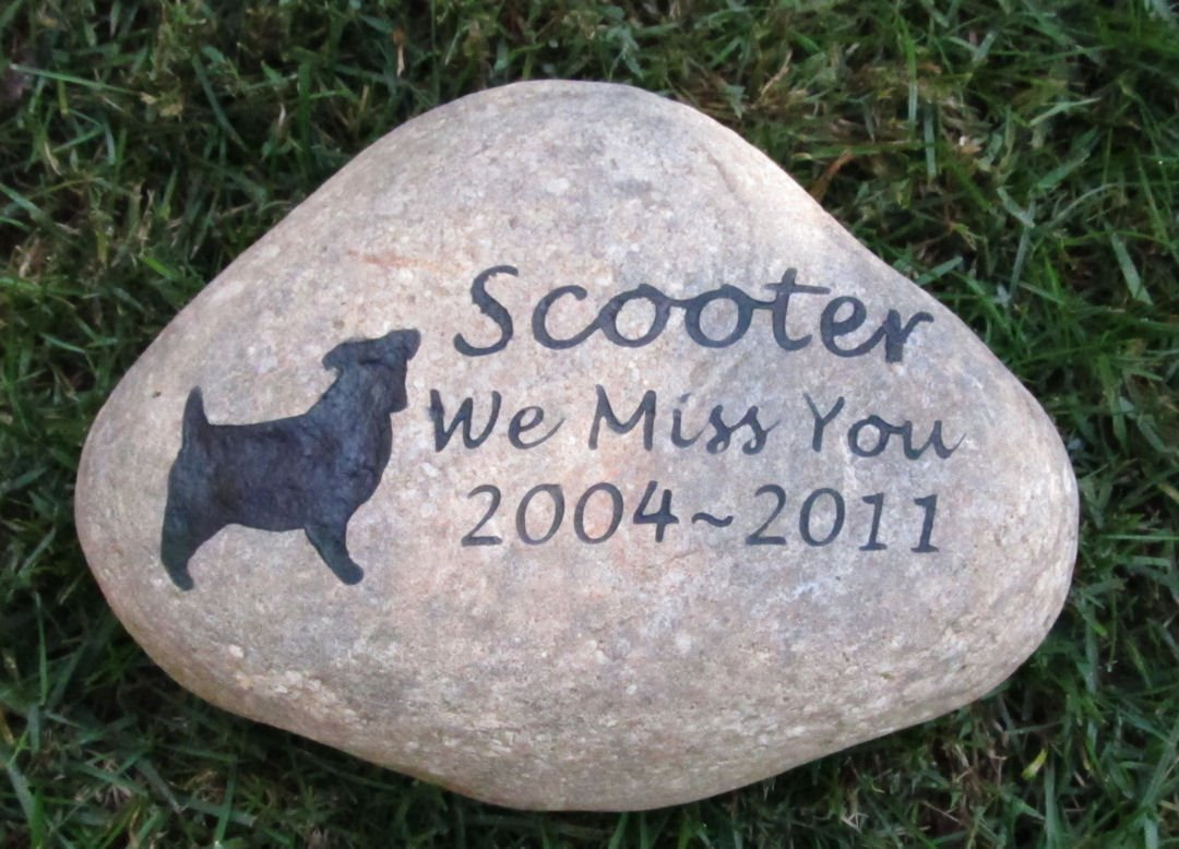 Jack Russell, Dog Memorial Gift, Tombstone, Gravestone, Grave Marker, 8-9 Inch