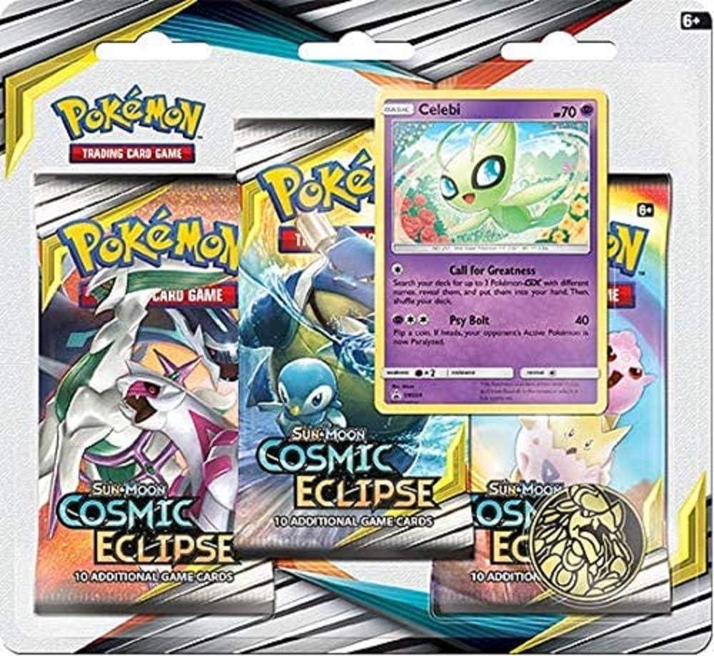 Pokémon POK82591 TCG: Sun & Moon 12 Cosmic Eclipse Blister 3-Pack ...