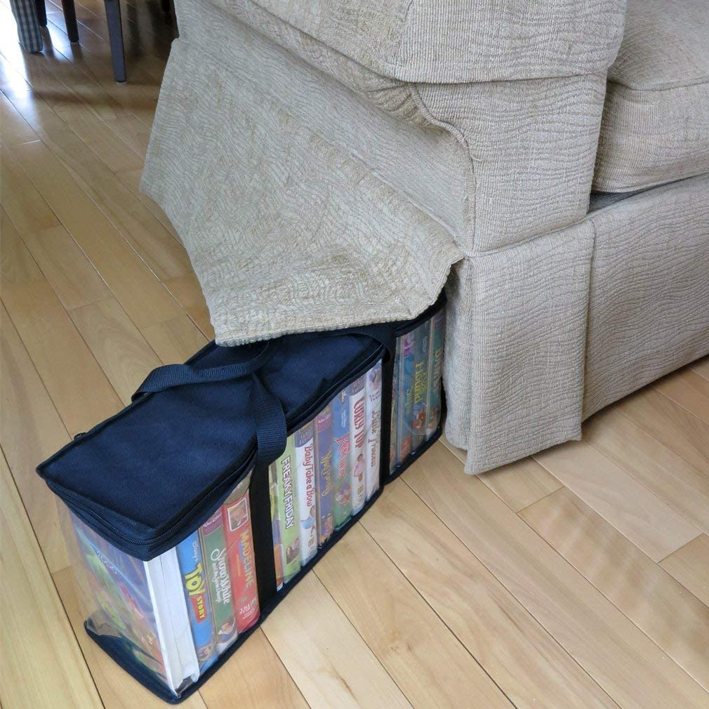 Evelots VHS Storage Bag-Movie Organizer-Video Tape-Handles-Hold 60-No Dust-Set//4 Renewed