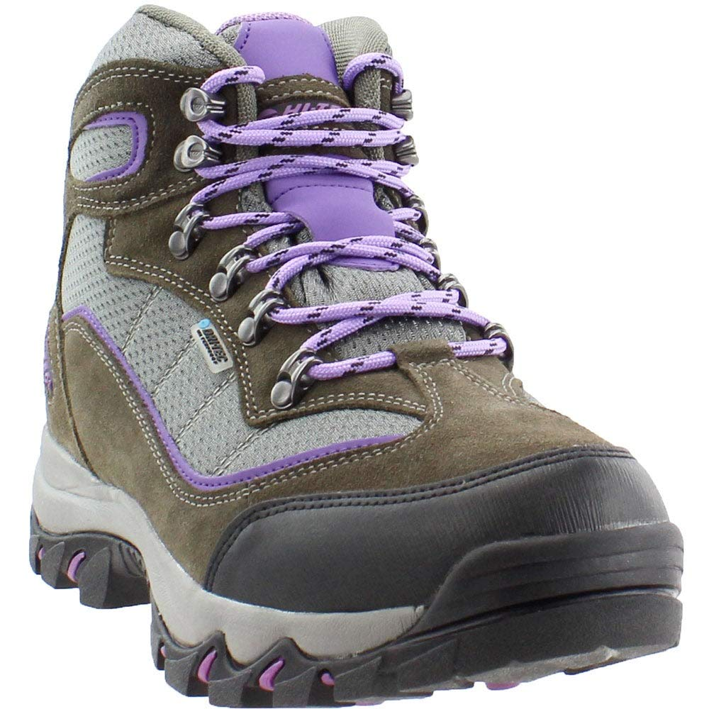 Hi-Tec Women's Skamania Mid Waterproof Hiking Boot, Grey/Viola,6.5 M US