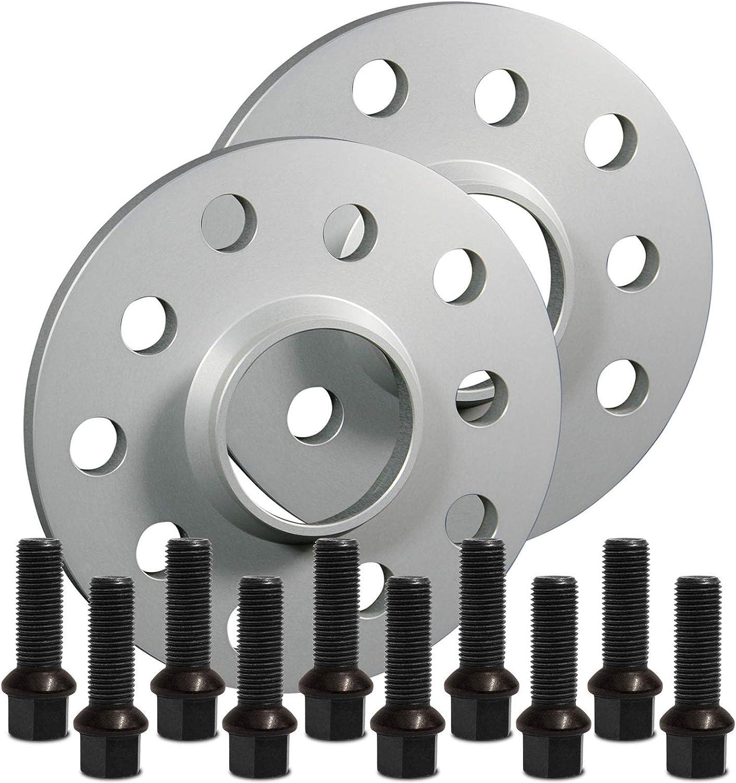 12124E/_48/_M1425KE38W 10mm Schrauben schwarz 5x120 72,6mm SilverLine Spurverbreiterung HA 20mm
