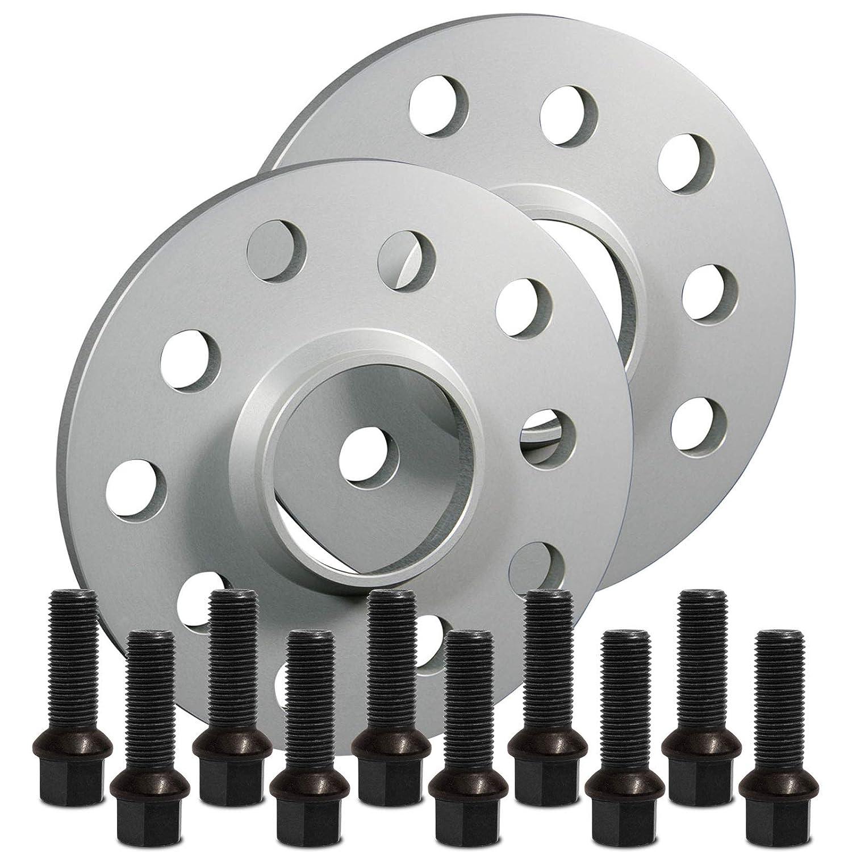 12118E/_12/_M1415KU38Q mit Schrauben schwarz 5x112 57,1mm 10mm SilverLine Spurverbreiterung 20mm