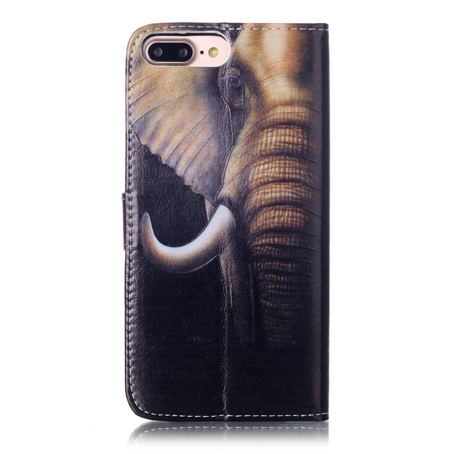 iPhone 8 Plus - Case, iPhone 7 Plus - Case, MerKuyom [Kickstand] Premium PU Leather Wallet Pouch Flap Cover Skin Case For Apple iPhone 7 Plus/iPhone 8 Plus 5.5'', Stylus (Cool Elephant Head) by MerKuyom (Image #6)