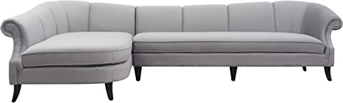 Jennifer Taylor Victoria Left Sectional Sofa, Right-Facing, Opal Gray