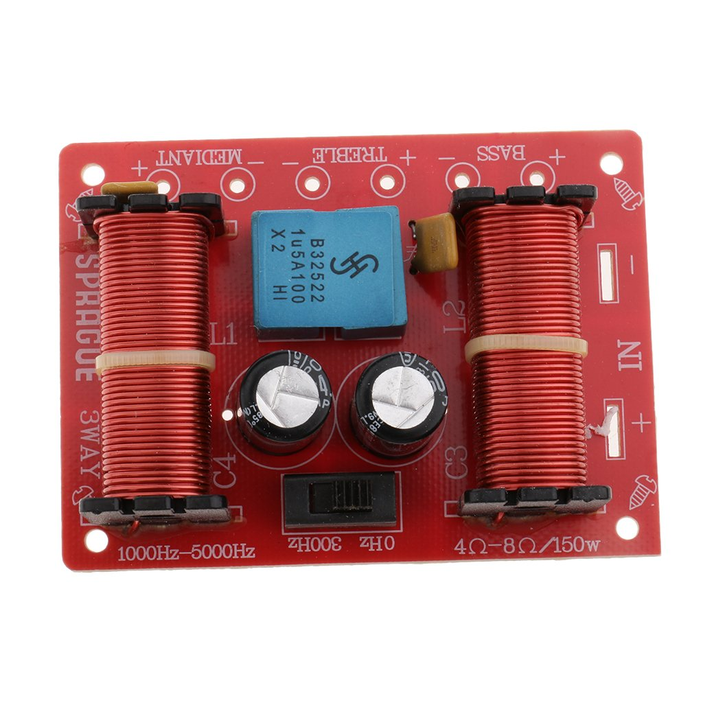 Shiwaki 2pcs 3 Wege Lautsprecher Frequenzweichen Audiofilter Frequenzteiler F/ür Car Home