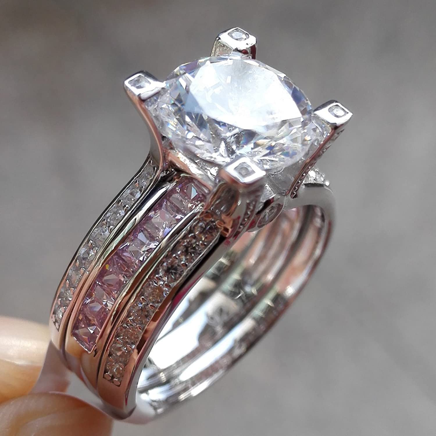 idea pink diamond rings of by inspired the engagement wedding star ring luxury elegant inspirational spectacular