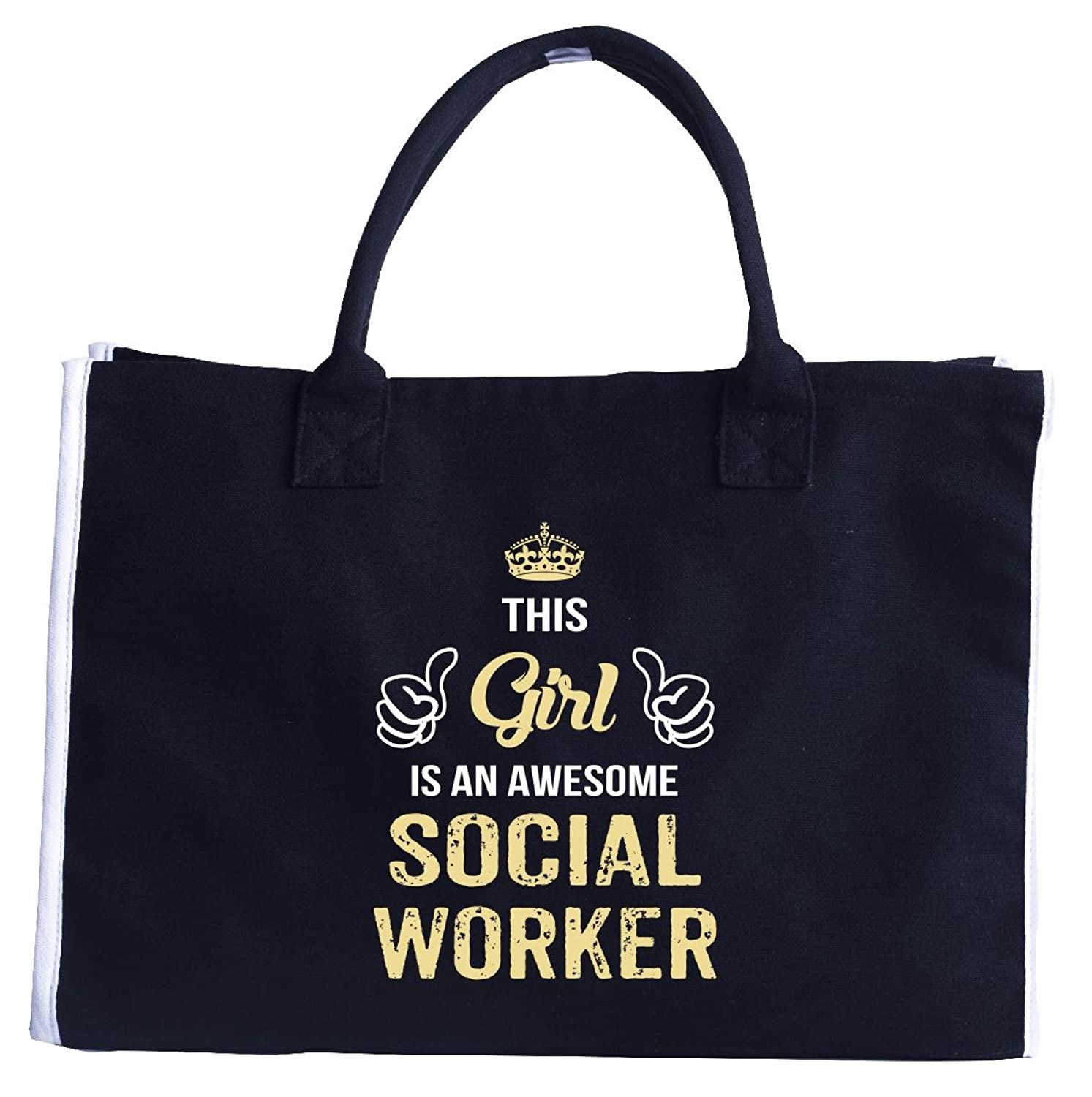 This Girl Is An Awesome Social Worker. Cool Gift - Fashion Customized Tote Bag