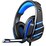 PS4 Gaming Headset with Mic, Beexcellent Newest Deep Bass Stereo Sound Over Ear Headphone with Noise Isolation LED Light…
