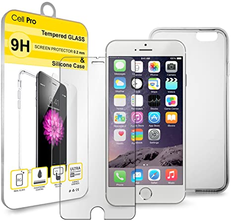 cellpro 1 tempered glass screen protector and silicone case amazoncom tempered glass