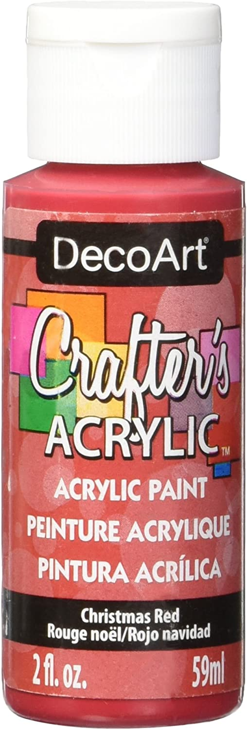 DecoArt Crafter's Acrylic Paint, 2-Ounce, Christmas Red
