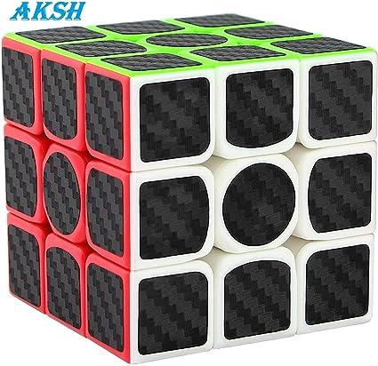 AKSH High Speed Smooth Magic Stickerless Rubik Cube Puzzle (Random Colour) (Smooth Magic Cube)