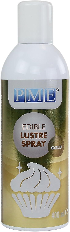 PME Gold Tall Edible Lustre Spray Tall Can-400ml (13.5 oz), Tall
