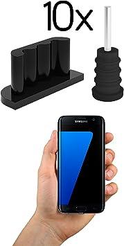 innoGadgets 10x Tapón Antipolvo Compatible con Smartphone ...