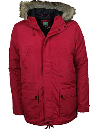 5eb34ac80d0b MENS NEW LEBREVE DESIGNER PARKA JACKETS SALE PRICE £49.99 Red   Amazon.co.uk  Clothing