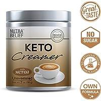 KETO Creamer, polvo de 7 onzas, MCT aceite, Keto Diet, café creador, pérdida de peso, Ketosis bajo en carbohidratos, gran sabor con sabor cremoso, sin endulzar