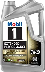 Mobil 1 Extended Performance Full Synthetic Motor Oil 0W-20, 5 Quart