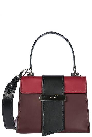 afaa7deec8d0 ... coupon for prada city calf metal ribbon bag 23cm womens calfskin leather  multicolor red top handle