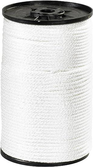 x 48 ft L Diamond Braided  Nylon  Rope  White Dia Wellington  1//8 in