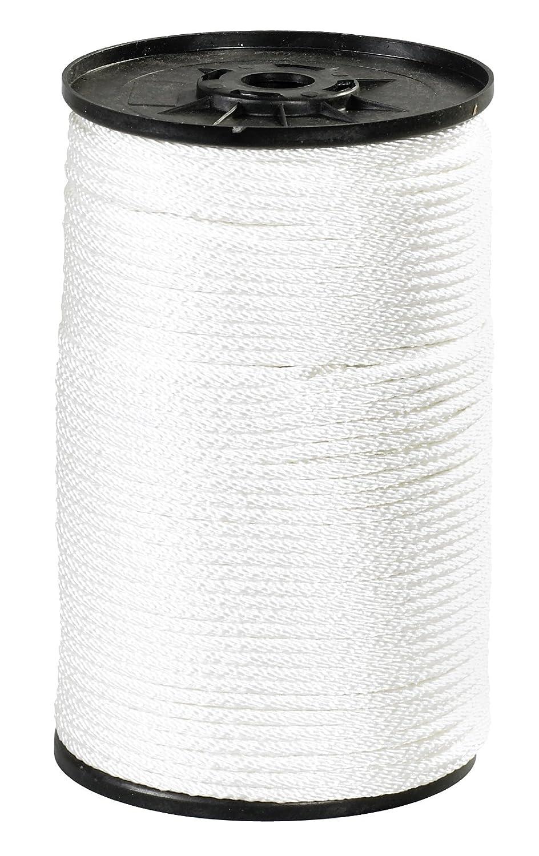 Aviditi Nylon Solid Braided Rope 320 lbs Tensile Strength White TWR116 500 x 1//8