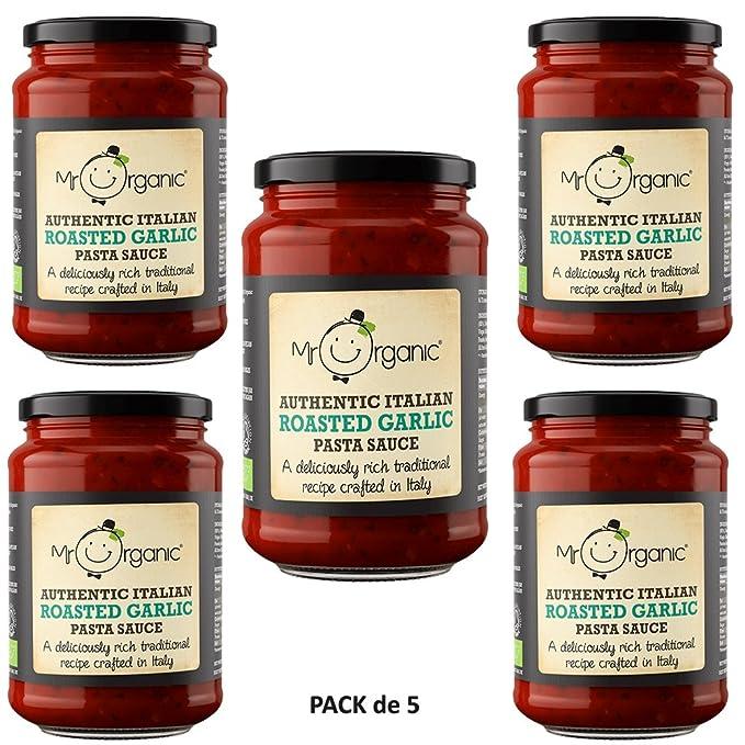 Mr Organic Salsa de Pasta de Ajo Asado 350g Pack de 5
