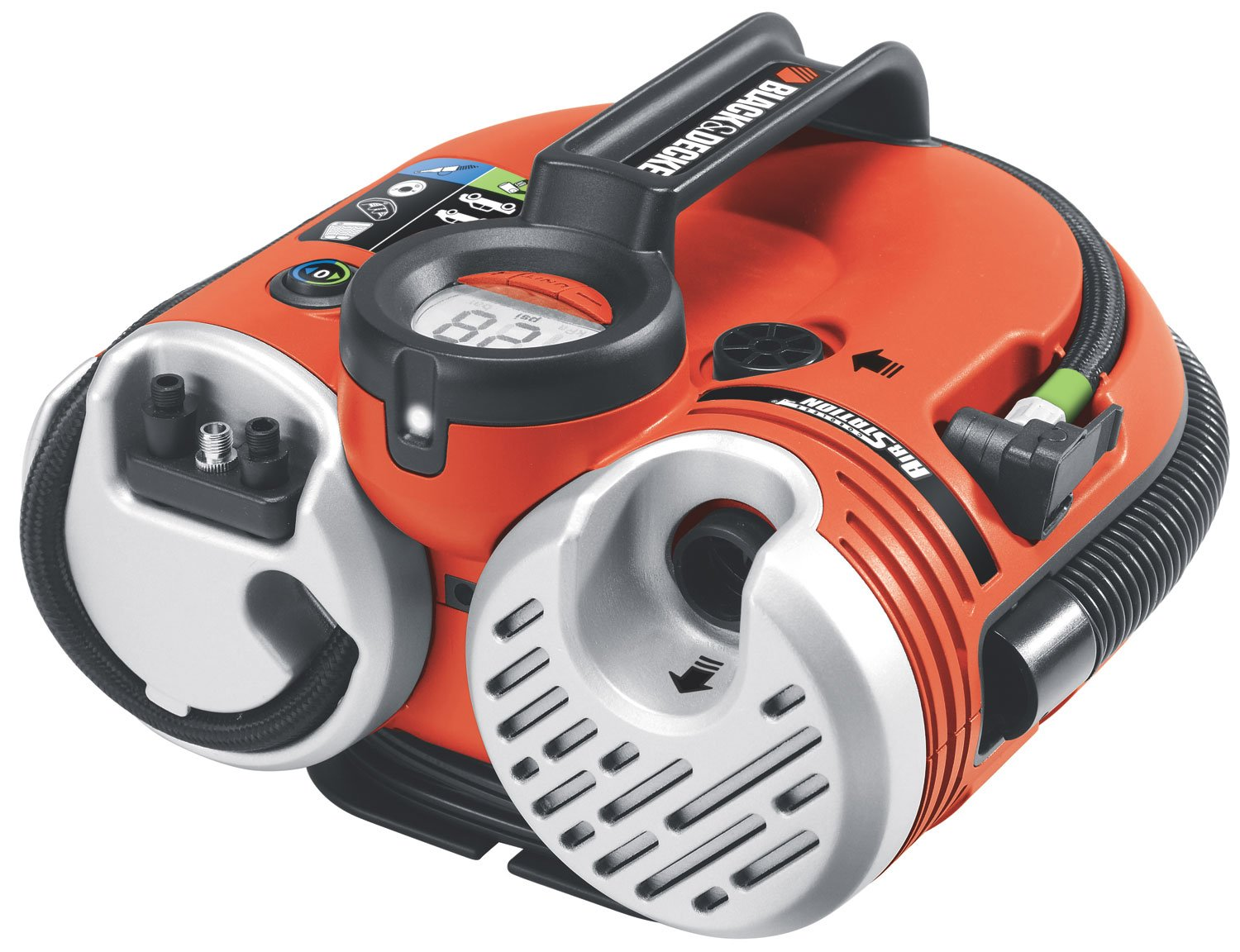 10. The Black and Decker ASI500 rechargeable air compressor and Cordless Air Station